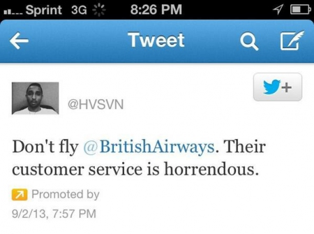 Relation client et twitter : l'e-reputation et le tweet sponsorisé sur British Airways